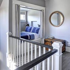 Cottage Kids Bed Nook with Grommet Curtains