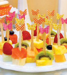 Easy Garden Party snacks (would be a cute & healthy after-school snack)
