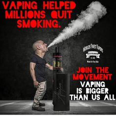 Vaping has Helped Millions Quit. It's Bigger than us ALL. Join the Movement! Photo credit: Alnajem photography #worldsfinestvapors #best #eliquid made with #higherstandards #natural flavor extracts only! EXPECT#molecularPURITY in UR #vape. 100% Made in the USA (that means EVERYTHING!!) #StopSmoking NOW and set yourself free! Choose health over insanity! ❌⭕️❌⭕️❌ WFV Better than a #cigarette any day!