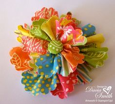 flower for hair - now THAT'S using up your small scraps!