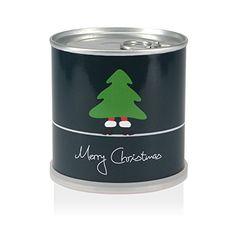 Weihnachtsbaum in der Dose - Merry Christmas Grün  Aus jeder Dose wächst mit etwas Pflege ein WEIHNACHTSBAUM (Fichte)