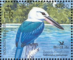 Beach Kingfisher stamps - mainly images - gallery format