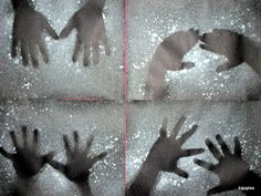 Tippytoe Crafts: Negative Art Great for shadows on Groundhog Day