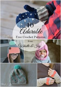 Round-up of some fun crochet patterns from Whistle and Ivy