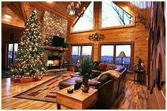 Log home christmas.