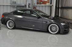 Gray BMW E92 M3 BBS LM
