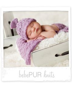 Bebe Pur Hat and Blankie Set ~Two Colors  Design revolution