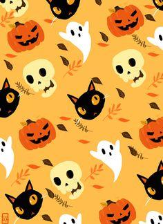 Halloween Paper, ghosts, sculls, cats, pumpkins!