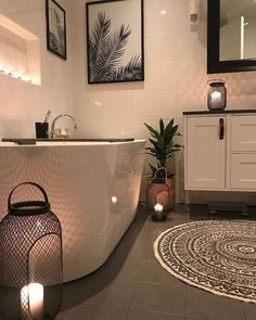 Small Bathroom Decorating Luxury Small Bathroom Decorating Ideas Modular Touch Lights Bathroom Inspiration // Interior Delux 41 Modern Farmhouse Bathroom Reveal With Boho Vibes Diy Bathroom Decor, Bathroom Interior, Modern Bathroom, Bathroom Ideas, Bathroom Small, Relaxing Bathroom, Bathroom Inspiration, Shower Ideas, Bathroom Organization