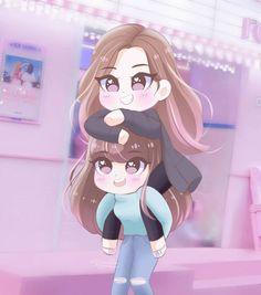 Lisa and rose Anime Chibi, Kawaii Anime, Anime Art, Attractive Wallpapers, Blackpink Poster, Bff Drawings, Lisa Blackpink Wallpaper, Black Pink Kpop, Rose Art