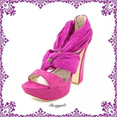"""AMAZING Pelle Moda Suede Benita Platform Sandals AMAZING Pelle Moda Suede Benita in Cerise. These are an Absolute Head Turner! Sturdy 5.25"""" heel with a Medium Width. They feature a Suede upper with a Open Toe & a Back Zip. The Man-Made outsole lends lasting traction and wear. ✅ all reasonable offers are considered through the offer tab✅ ❌No TRADE OR PP❌ Pelle Moda Shoes Platforms"""