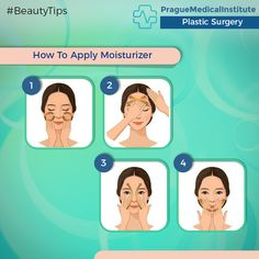 Here's the right technique to apply a moisturizer!