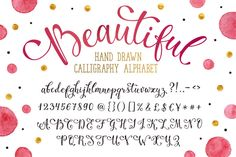 Hand drawn calligraphic alphabet by Olly Molly on @creativemarket