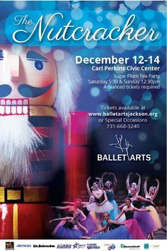 Experience holiday magic, Ballet Arts, Inc. returns with their sparkling production of The Nutcracker. Join us in reliving this classic tale, traveling with Clara and the handsome Nutcracker Prince as they embark on a thrilling adventure.    Visit  www.balletartsj​ackson.org,