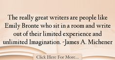 James A. Michener Quotes About Imagination - 37891