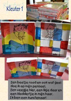 De werkjes voor vaderdag van de kleuters van de sg Heule-Kuurne Art For Kids, Crafts For Kids, Arts And Crafts, Paper Crafts, Piet Mondrian, Forest School, School Themes, Art Party, Woodland Party