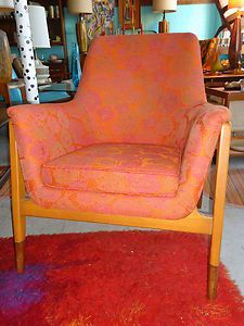 Mid Century BODAFORS Sweden Arm Chair Swedish Danish Modern 60s RARE | eBay. Quite striking, although I'm not sure the fabric would work in my home.