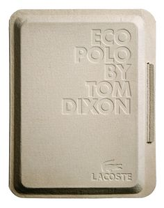 Lacoste eco/techno polo:  In collaboration with Tom Dixon we worked on the packaging and launch graphics for two special edition polo shirts commissioned by Lacoste. (by mind design)