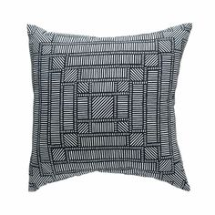Maze Cushion | Charcoal