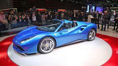 IAA 2015: Ferrari 488 Spider side angle