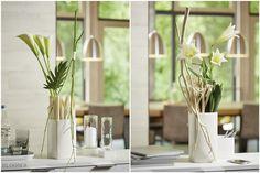 Dekoideen für schlichte Vasen