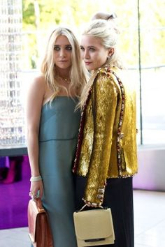 Ashley and Mary-Kate Olsen.  Good God these girls have style.