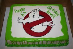 Ghostbusters Cake : Who ya gonna call?!                                                                                                                                                                                 More