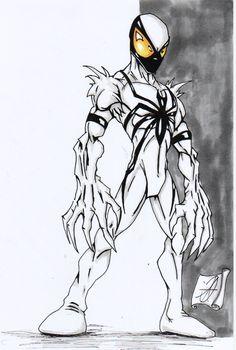 anti venom spiderman by darkartistdomain on DeviantArt Marvel Dc Movies, Marvel Comics Art, Marvel Comic Character, Marvel Heroes, Marvel Characters, Comic Book Characters, Anti Venom Spiderman, Anti Venom Marvel, Spiderman Art