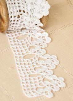 Mano crochet encaje de corte decoración de algodón por woolnwhite