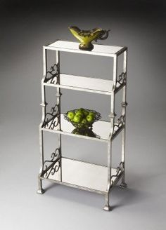 """Butler Specialty Melrose Metalworks Etagere by Butler Specialty. $739.00. Finish Distressing: Light. The perfect addition to any home!. Product Dimensions: 22""""W, 14""""D, 48""""H. Metalworks Etagere - 1291025 Since 1930, Butler Specialty Company has furnished America's homes with fine lines of occasional and accent furniture. Founded during one of the bleakest eras in our nation's history, the Great Depression, Butler not only survived - but thrived because of its commitm..."""