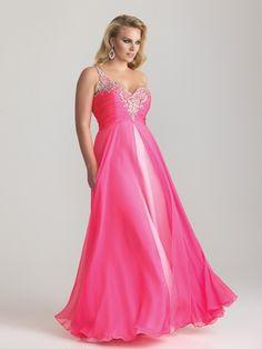 Sweetheart Beaded Bodice Night Moves Plus Size Prom Dress 6788W: DressProm.net
