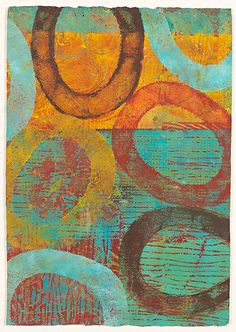 W 2010 Michela Sorrentino Gelli Arts, Guache, Plate Art, Painted Paper, Aboriginal Art, Art Journal Inspiration, Pattern Art, Painting & Drawing, Art Projects