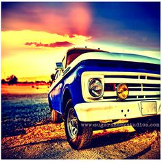 Old Truck Sunset Lomo Photo Print 5x5  Boho by SugarShackStudios, $10.05