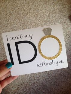 Latest 15 Will You be my Bridesmaid ideas! >> I can't say ido without you