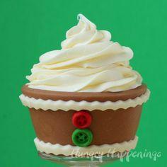 Edible Christmas Cupcake Wrappers - Gingerbread Design