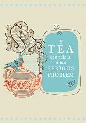 TEEPOSTKARTE IF TEA CAN'T FIX #tea
