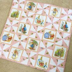 A fun, quick to sew quilt. I've got a friend expecting a baby girl in January so I worked on this in bits here & there during Nate's naps… Baby Quilts Easy, Baby Girl Quilts, Girls Quilts, Jaybird Quilts, Star Quilts, Children's Quilts, Quilting Projects, Sewing Projects, Quilting Ideas
