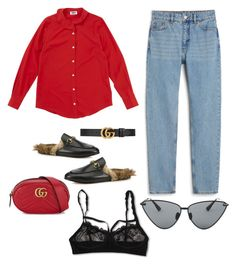 Wants by theaclemetsen on Polyvore featuring polyvore, мода, style, Sonia by Sonia Rykiel, Monki, Hanky Panky, Gucci, Le Specs Luxe, fashion and clothing