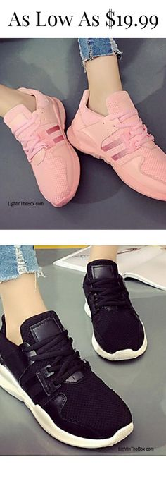06d5dac7854469   16.99  Women s Shoes Canvas Spring Summer Comfort Sneakers for Casual  White Black Pink