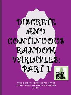 AP Statistics-Discrete and Continuous Random Variables:Probability Distributions Ap Statistics, Variables, Students, The Unit, Random, Casual