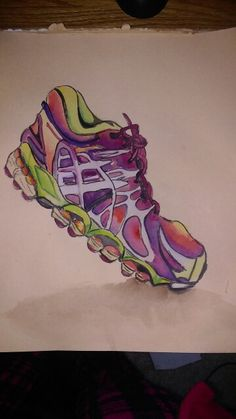 Sneaker/Running/watercolor By Lydia Sutton