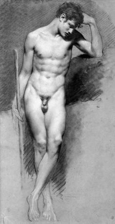 Pierre-Paul Prud'hon Academic Male Nude (via antelucanhourglass)