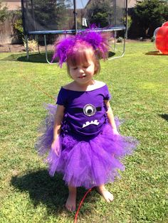 Despicable Me 2 / purple evil minion tutu /DIY