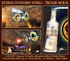 Russian Standard Vodka mural by James R. Hahn #PalmeirasBeachClub #RussianStandardVodka