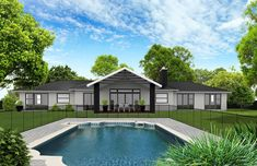 Back View Build Your Own House, Auckland, Ikon, Planer, House Plans, Exterior Homes, House Design, Mansions, Architecture
