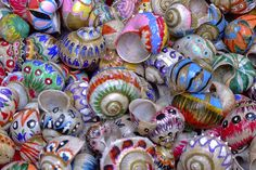 Painted snail houses by MaikT, via Flickr