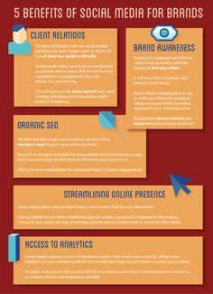 5 benefits of Social Media for brands.