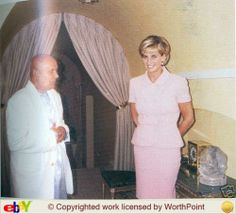 May 21, 1997: Diana, Princess of Wales meeting with Sri Chinmoy at her Kensington Palace apartment.