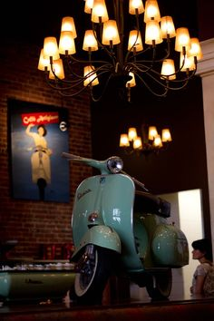 Vespa~light blue Vespa +
