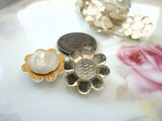 2 Vintage Clear German Flower Shaped Glass by FindingYourElement